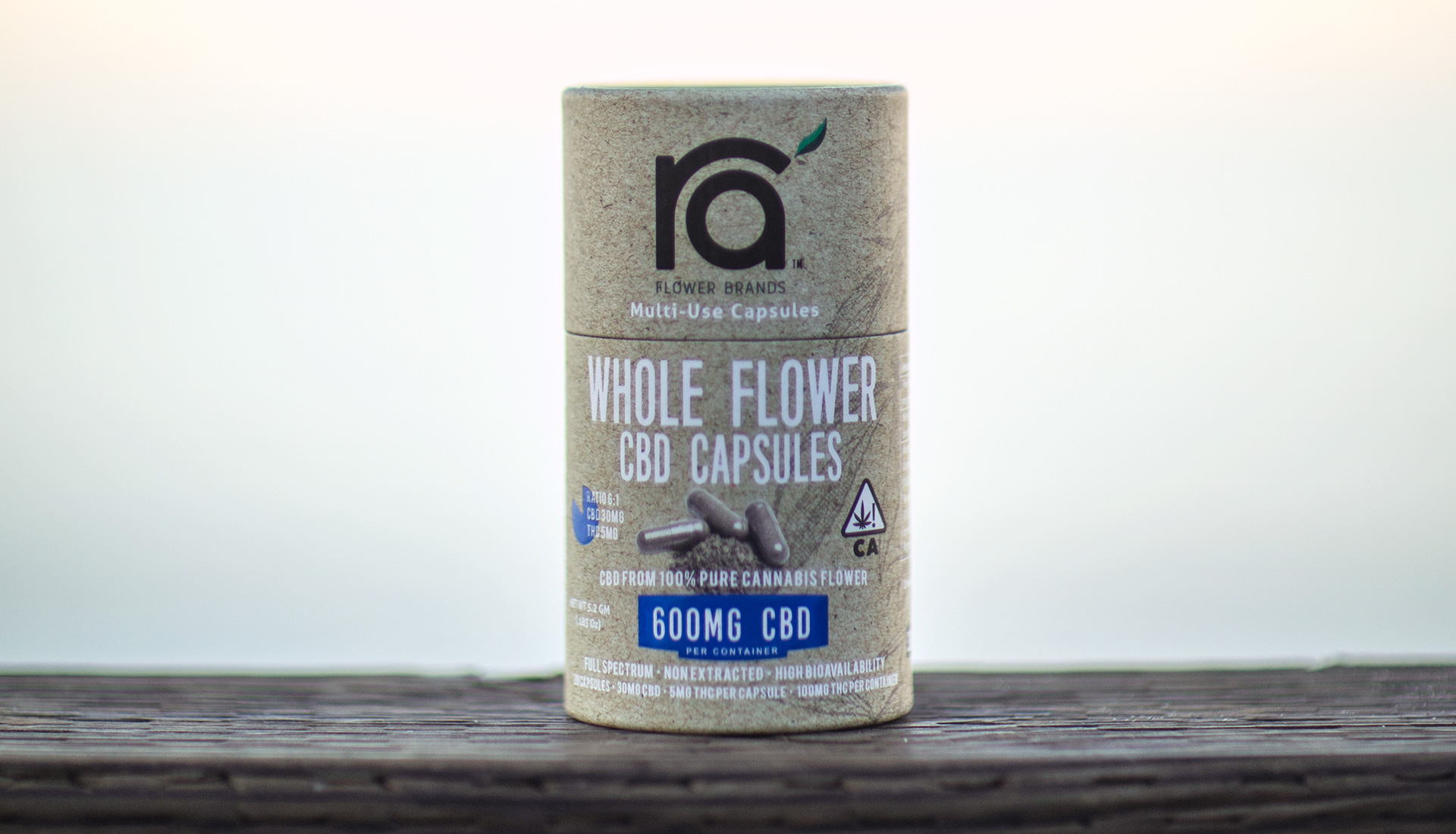 100% Whole Flower CBD Vegan Capsules Ra' Flower Brands
